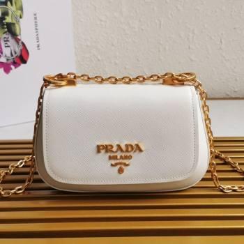 Prada Saffiano Leather Shoulder Bag 1BD275 White 2020 (YZ-21031917)