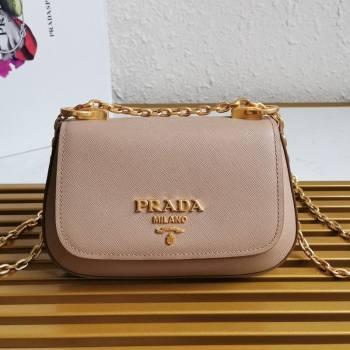 Prada Saffiano Leather Shoulder Bag 1BD275 Nude 2020 (YZ-21031916)