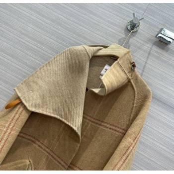 Hermes Cashmere Coat HC156 Brown 2021 (Q-210915056)