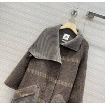 Hermes Cashmere Coat HC157 Grey 2021 (Q-210915057)