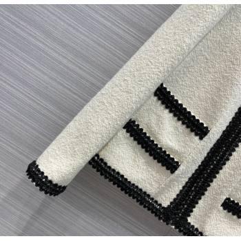 Chanel Tweed Jacket CJ1513 White 2021 (Q-210915064)