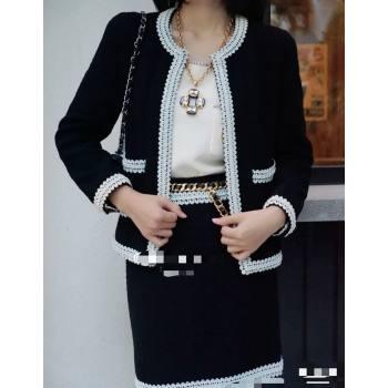 Chanel Tweed Jacket CJ1514 Black 2021 (Q-210915065)