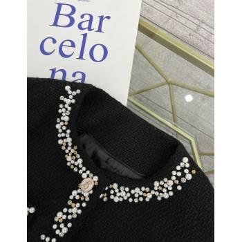Chanel Tweed Jacket CJ1516 Black 2021 (Q-210915067)