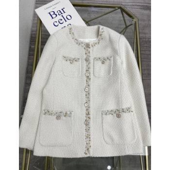 Chanel Tweed Jacket CJ1515 White 2021 (Q-210915066)