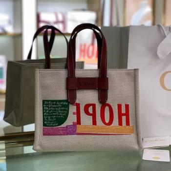 Chloe Small Corita Ken Canvas Tote bag 2021 (YS-21091333)