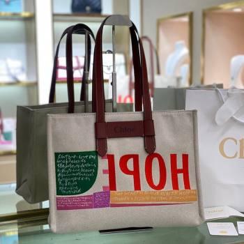Chloe Medium Corita Ken Canvas Tote bag 2021 (YS-21091334)