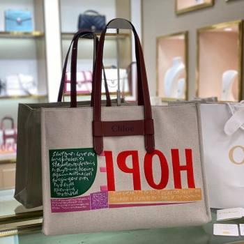 Chloe Large Corita Ken Canvas Tote bag 2021 (YS-21091335)