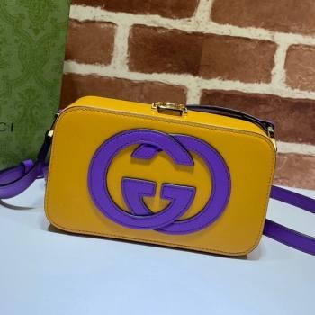 Gucci Leather Interlocking G Mini Bag 658230 Yellow/Purple 2021 (DLH-21072618)