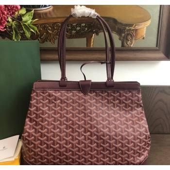 Goyard Bellechasse Biaude Tote Bag PM Burgundy 2021 (LMGY-21091415)
