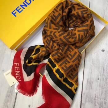 Fendi Cashmere FF Shawl Red 2018 (A0SS-8102403)