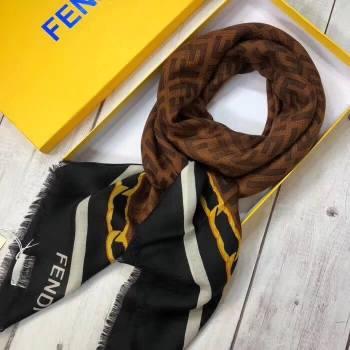 Fendi Cashmere FF Shawl Black 2018 (A0SS-8102404)
