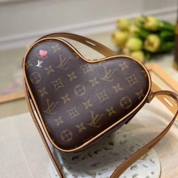 Louis Vuitton Game On Coeur Heart Shaped Bag in Brown Monogram Canvas M57456 2020 (KI-20112346)