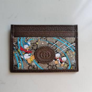 Gucci x Disney Donald Duck GG Canvas Card Case 647942 Beige/Blue 2020 (DLH-20112543)