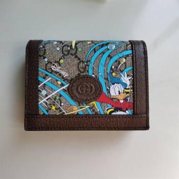 Gucci x Disney Donald Duck GG Canvas Card Case 648121 Beige/Blue 2020 (DLH-20112545)