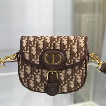 Dior Small Bobby Shoulder Bag in Brown Oblique Canvas 2020 (XXG-20112604)