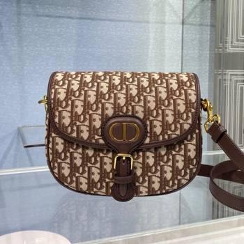 Dior Medium Bobby Shoulder Bag in Brown Oblique Canvas 2020 (XXG-20112605)