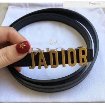 Dior Width 1.5cm Calfskin Belt With JAdipr Buckle Black 04 2020 (99-20050411)