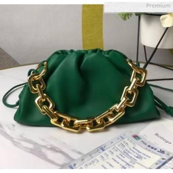Bottega Veneta Small The Chain Pouch Clutch Bag With Square Ring Chain Green 2020 (MS-20050537)