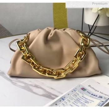 Bottega Veneta Small The Chain Pouch Clutch Bag With Square Ring Chain Beige 2020 (MS-20050538)