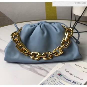 Bottega Veneta Small The Chain Pouch Clutch Bag With Square Ring Chain Blue 2020 (MS-20050539)