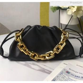 Bottega Veneta Small The Chain Pouch Clutch Bag With Square Ring Chain Black 2020 (MS-20050543)