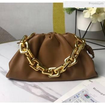 Bottega Veneta Small The Chain Pouch Clutch Bag With Square Ring Chain Cammello Brown 2020 (MS-20050544)