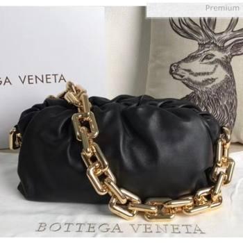 Bottega Veneta The Chain Pouch Clutch Bag With Square Ring Chain Black 2020 (MS-20050552)