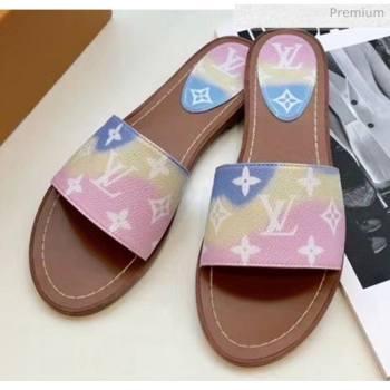 Louis Vuitton LV Escale Lock It Flat Mule Sandals Pink 2020 (MD-20050625)