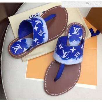 Louis Vuitton LV Escale Palma Flat Thong Sandals Blue 2020 (MD-20050629)