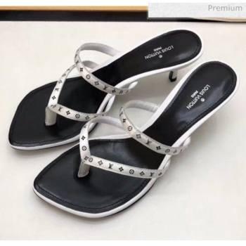 Louis Vuitton Satin and Calfskin Citizen Thong Sandal White 2020 (MD-20050649)