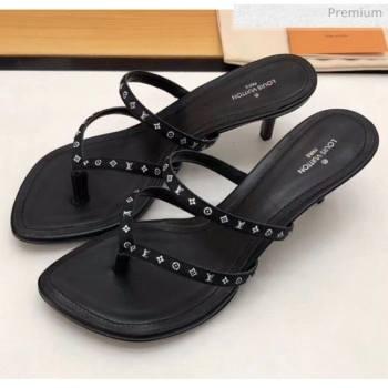 Louis Vuitton Satin and Calfskin Citizen Thong Sandal Black 2020 (MD-20050648)