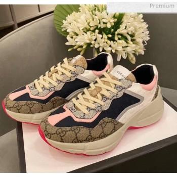 Gucci Rhyton GG Supreme Multicolor Sneakers Pink 2020 (SY-20050801)