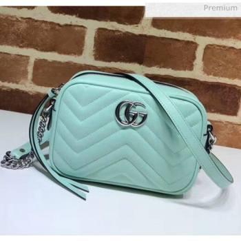 Gucci GG Marmont Matelassé Mini Shoulder Bag 448065 Pastel Geen 2020 (DLH-20051144)