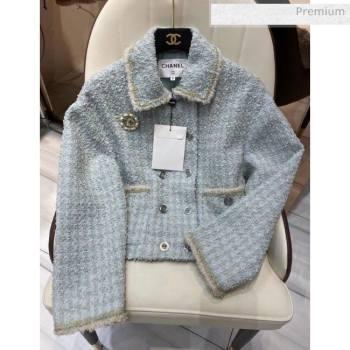 Chanel Tweed Jacket CH11 Blue 2020 (Q-20051232)