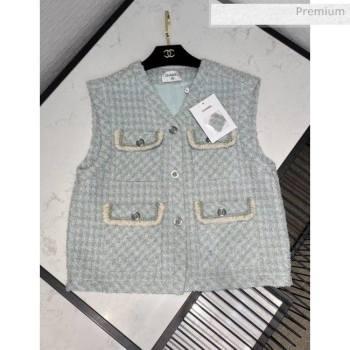 Chanel Tweed Vest CH13 Blue 2020 (Q-20051234)