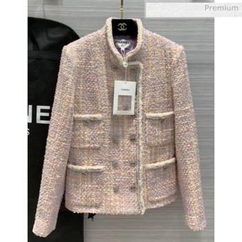 Chanel Tweed Jacket CH16 Pink 2020 (Q-20051240)
