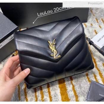 "Saint Laurent LOULOU TOY Bag IN MATELASSÉ ""Y"" Leather 467072 Black/Gold 2020(Top Quality) (JD-20051313)"