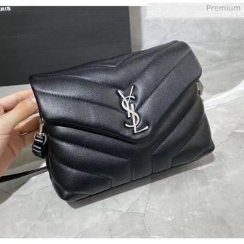 """Saint Laurent LOULOU TOY Bag IN MATELASSÉ """"Y"""" Leather 467072 Black/Silver 2020 (MH-20051317)"""