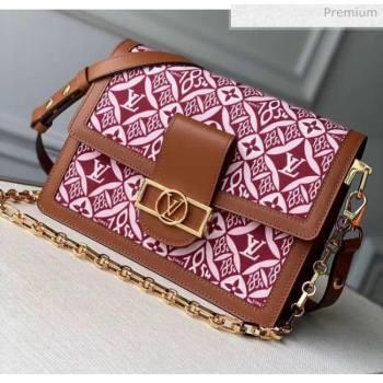 Louis Vuitton Dauphine MM Monogram Print Canvas Shoulder Bag M57211 Brown 2020 (K-20051333)