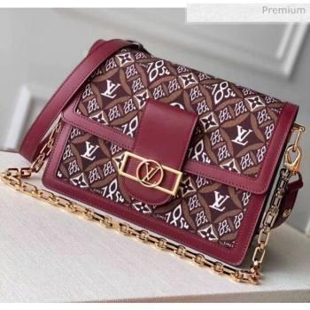 Louis Vuitton Dauphine MM Monogram Print Canvas Shoulder Bag M57211 Burgundy 2020 (K-20051332)