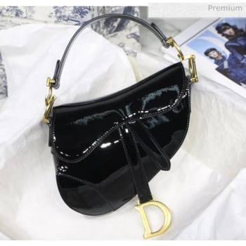 Dior Mini Saddle Bag in Patent Calfskin Black 2020 (XXG-20051334)