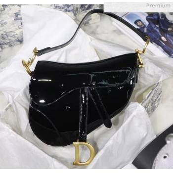 Dior Saddle Bag in Patent Calfskin Black 2020 (XXG-20051335)