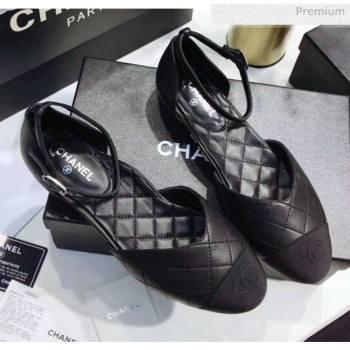 Chanel Mary Janes Ballerina G36048 in Calfskin & Grosgrain Black 2020 (JC-20051428)