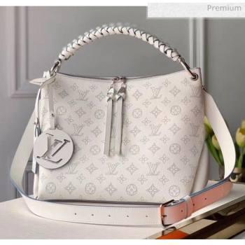 Louis Vuitton Mahina Perforated Calfskin BEAUBOURG Hobo MM Bag M56201 White 2020 (K-20051316)