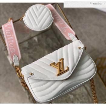 Louis Vuitton Multi Pochette New Wave Shoulder Bag M56466 White 2020 (K-20051918)