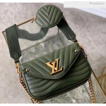 Louis Vuitton Multi Pochette New Wave Shoulder Bag M56471 Army Green 2020 (K-20051919)