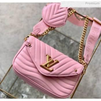 Louis Vuitton Multi Pochette New Wave Shoulder Bag M56468 Pink 2020 (K-20051920)