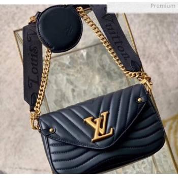 Louis Vuitton Multi Pochette New Wave Shoulder Bag M56461 Black 2020 (K-20051921)