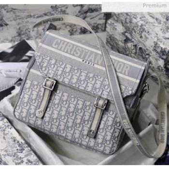 Dior Diorcamp Messenger Bag in Embroidered Oblique Canvas Grey 2020 (XXG-20052814)
