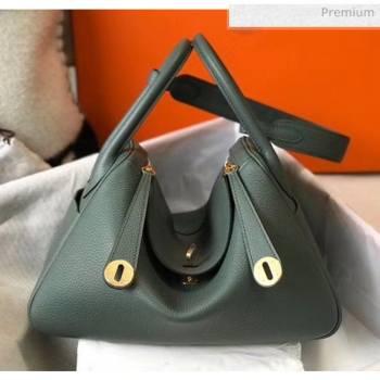 Hermes Lindy 30cm Bag In Togo Calfskin Leather Almond Green 2020 (FL-20052905)